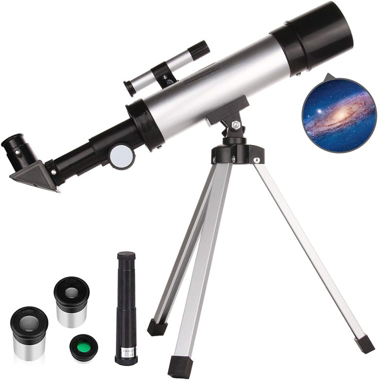 teleskop f/ür anf/änger Erwachsene,refraktor teleskop Kinder,90/°Zenith-Spiegel /& 2 okular teleskop,zur Beobachtung des Mondes TZUTOGETHER teleskop astronomisches tragbares Zoom mit Stativ