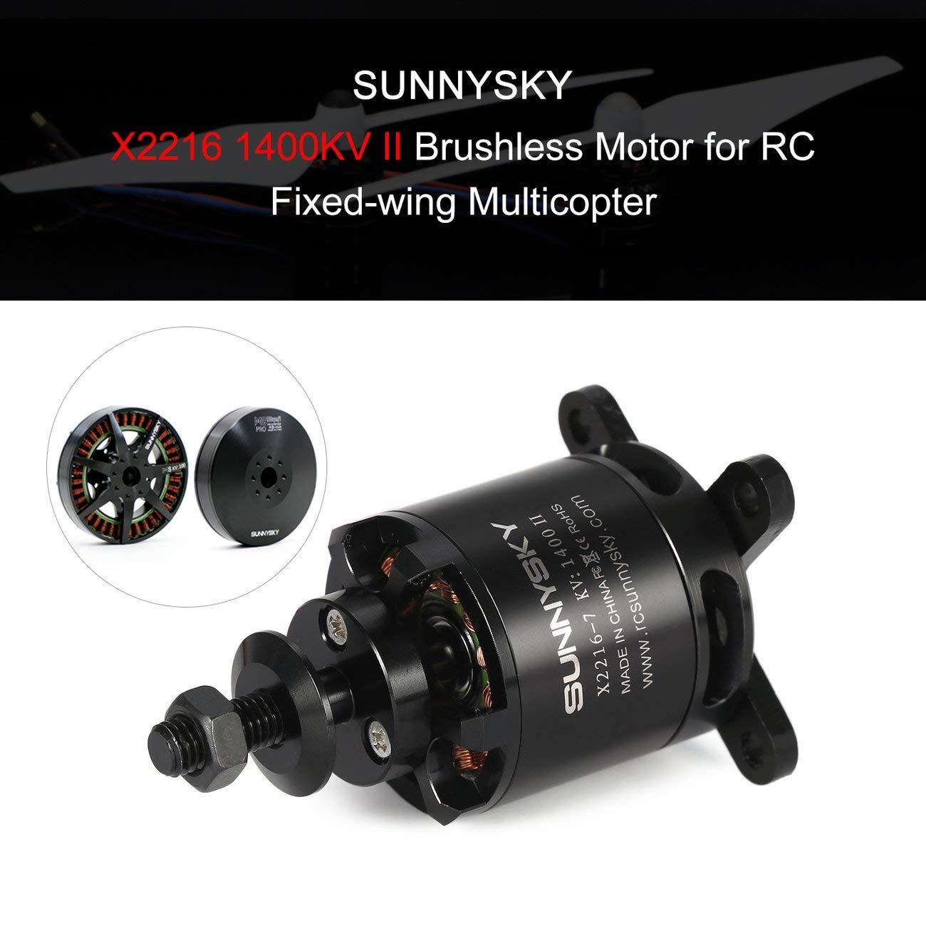 LasVogos SUNNYSKY X2216 1400KV II 2-4S Motor sin escobillas para Aviones de ala Fija RC: Amazon.es: Juguetes y juegos