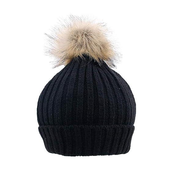 Newborn Baby Boy Girls Winter Warm Wool Knit Beanie Hat Kid Cap For 0-3 Years