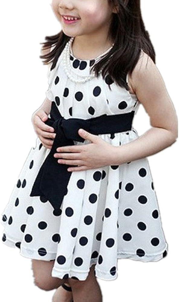 Kids Baby Cute Polka Dot Chiffon Sleeveless Princess Dress Summer Clothes Vicbovo Toddler Girls Sundress