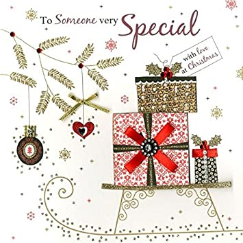 Someone very special luxury handmade christmas card xmas cards someone very special luxury handmade christmas card xmas cards m4hsunfo Gallery