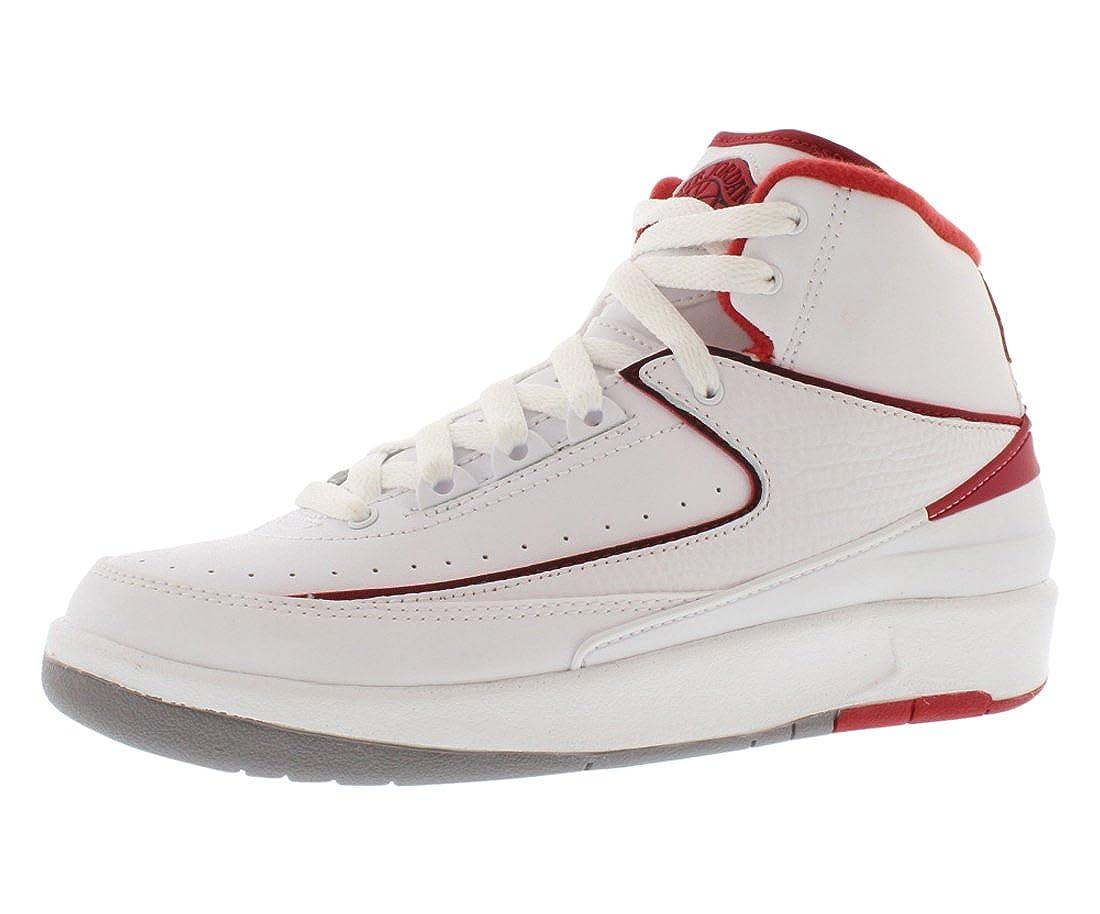 timeless design 72e04 05965 Air Jordan 2 Retro BG 395718 102 white/red size 3.5y