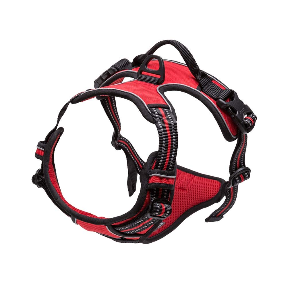 RED L RED L Dog Harness No-Pull Pet Harness Adjustable Outdoor Pet Vest Oxford Material Vest for Dogs Easy Control for Small Medium Large Dogs (color   RED, Size   L)