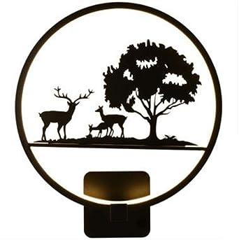 LED Wandleuchte Moderne Schlichtheit Schwarz Und Wangen Schmiedeeisen Lack  Nachttischlampe Mit Acryl Schallwand Mit Exquisiten