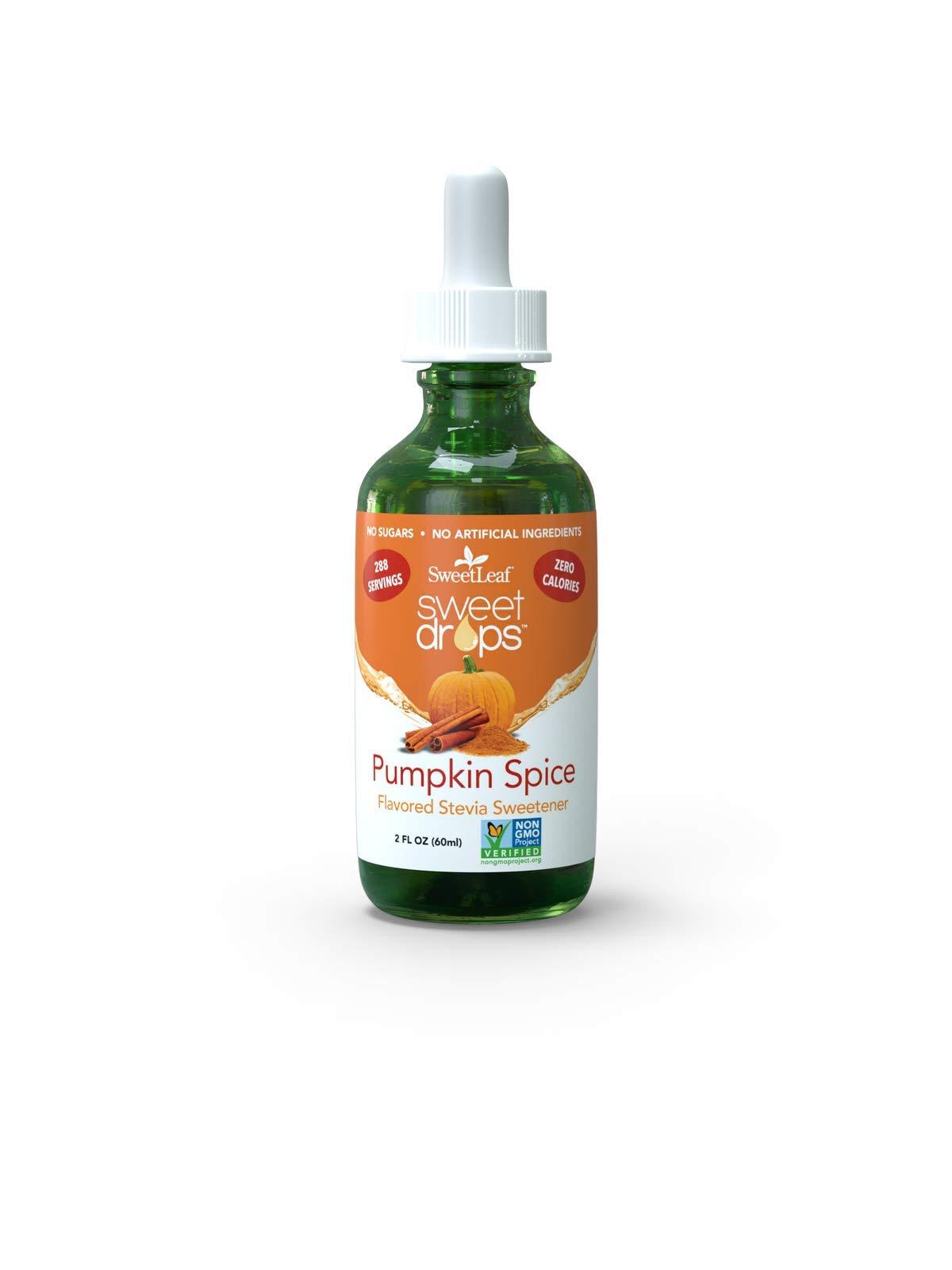 SweetLeaf Pumpkin Spice Liquid Stevia, Non-GMO, Sugar Free, Keto Friendly