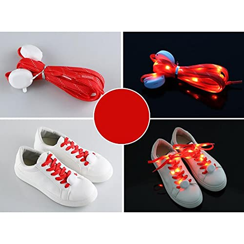 Shoelaces For Christmas.Cuitan Led Shoelaces For Night Running 10 Led Light Up Shoe Laces Luminous Flashing Shoestrings Glow Strap With 3 Light Modes