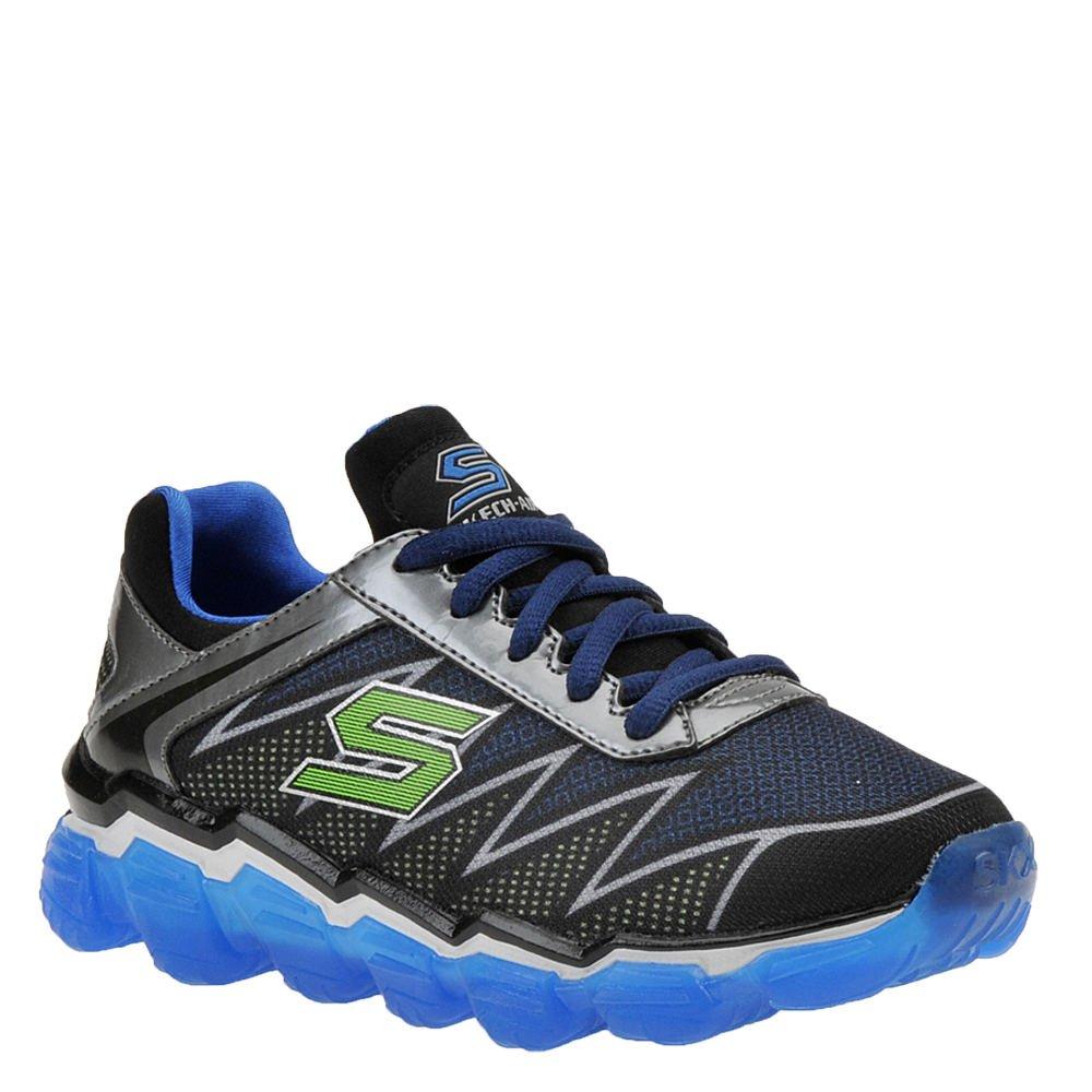 Skechers Boys' Skech-Air Turbo Drive Sneaker,Black/Blue/Lime,US 7 M