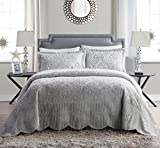 Westland Quilted Plush Bedspread Set (2- or 3-Piece) King Grey