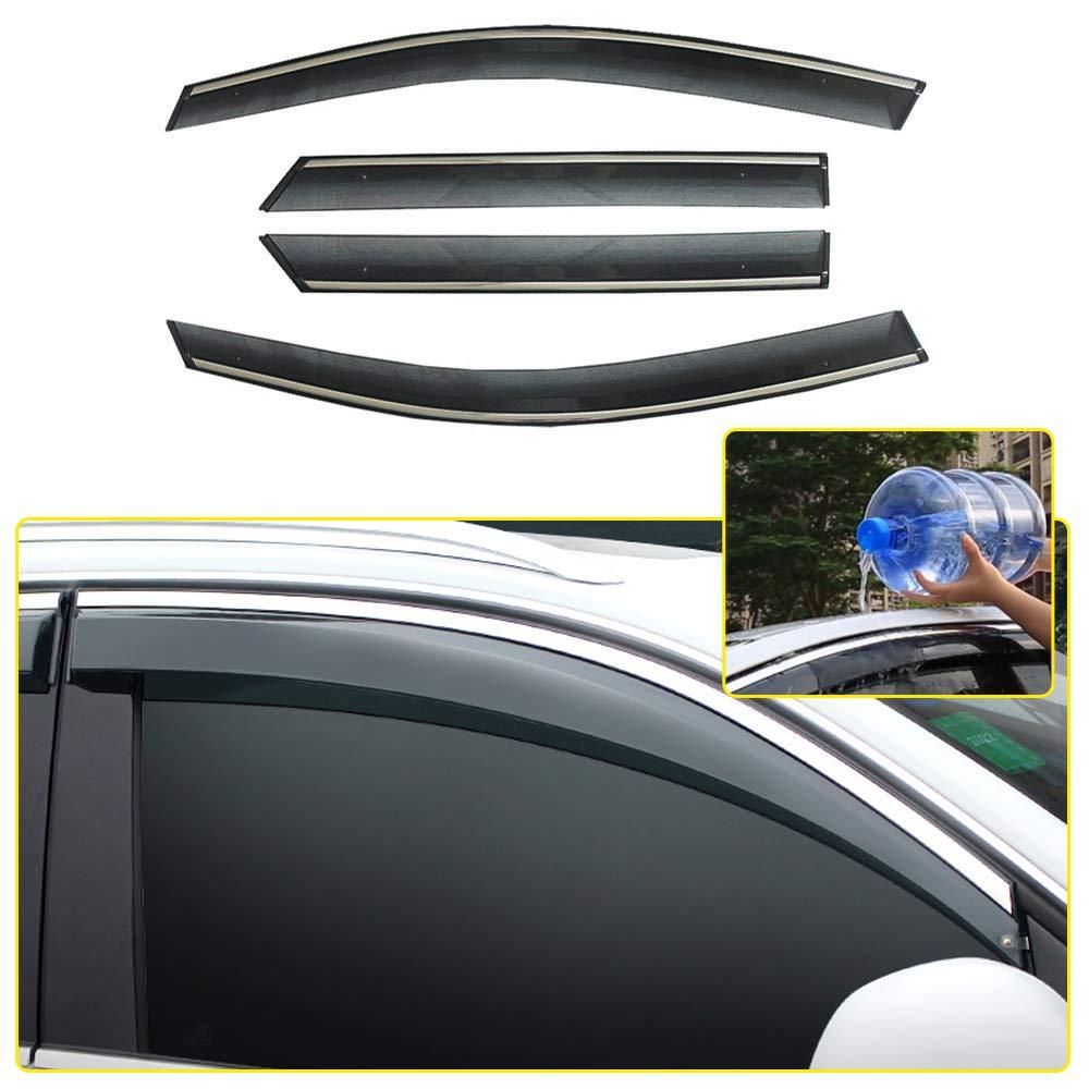 8X-SPEED Deflettori dAria Antiturbo per CX-3 2018 2019 Auto Finestrini Visiera Parasole Deflettore Aria Frangivento e Antipioggia 4 Pezzi