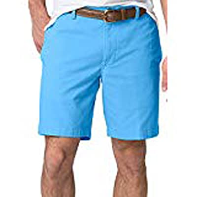 Chaps Men's Big & Tall Washed Twill Chino Flat Front Shorts at Amazon Men's Clothing store
