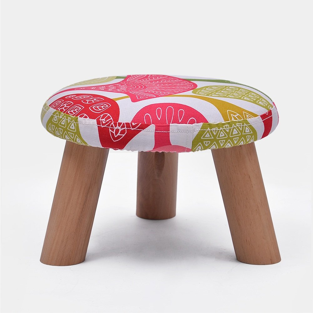 ZAYJD XRXY Creative Solid Wood Footstool/Changing His Shoes Stool/Low Stool/Cloth Small Bench/(2 Sizes Available) (Color : D, Size : 3021cm)
