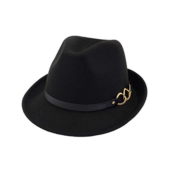 bff49d382a2d8f European US Roll Brim Jazz Woolen Felt Fedora Hat with Men Women Formal  Party Trilby Stage
