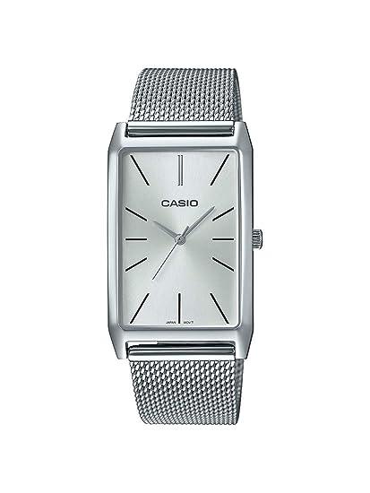78d709044967 Casio Reloj Analógico para Mujer de Cuarzo con Correa en Acero Inoxidable  LTP-E156M-