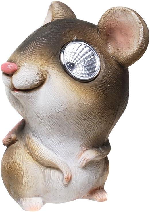 Ratón con ojos Solar Figura solar Farolillo solar jardín jardín Figura: Amazon.es: Jardín