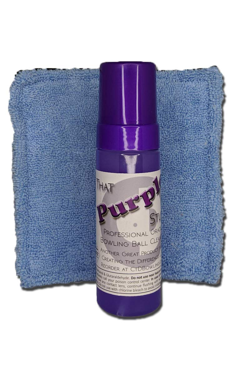 Creating the Difference That Purple Stuff Bowling Ball Cleaner with Pad | 6 oz Foam Bottle | Combo Pack | Power Pad Included