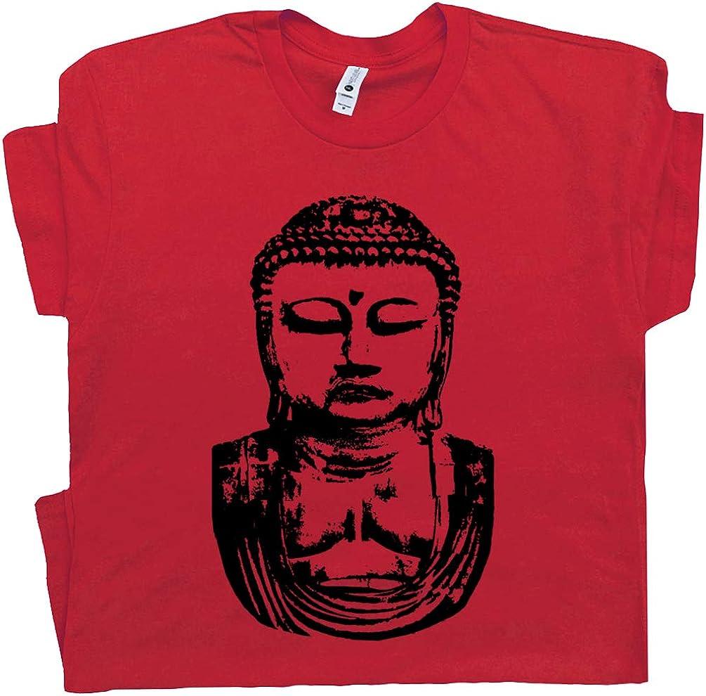 Shirtmandude T-Shirts Buddha - Camiseta Budista para Yoga, Karma, reír y Reciclar, para Hombres y Mujeres