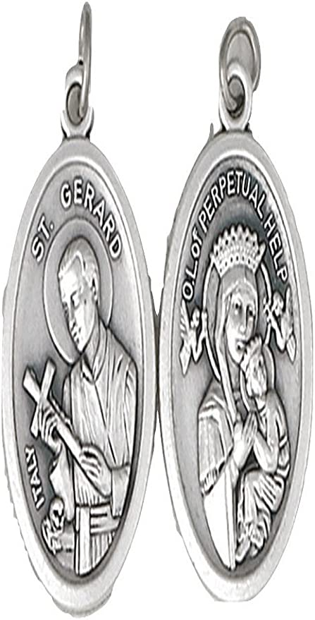 """18/"""" or 24/"""" Inch Necklace Saint St Gerard Our Lady Mother of Perpetual Help Charm"""