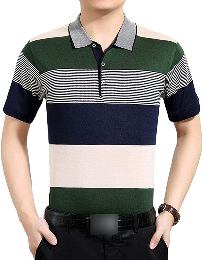 Yasminey Polo Camisa Hombre Hombre De De Manga Camisa Corta Camisa ...