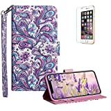 Funyye Strap Flip Cover for iPhone X,Stylish 3D Peacock Flower Design Magnetic Folio Wallet Leather Case with Credit Card Holder Slots PU Leather Cover for iPhone X,Full Body Shockproof KickStand Protective Soft Silicone Case for iPhone X + 1 x Free Screen Protector