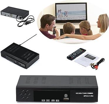 Receptor de TV Vídeo Digital Broadcasting Set Top Box Compatible,Receptor sintonizador DVB-T2/S2 y Grabador Full HD 1080P con Reproductor Dolby Digital PVR (H.264 / MPEG-2/4, HDTV, HDMI, USB 2.0): Amazon.es: Electrónica