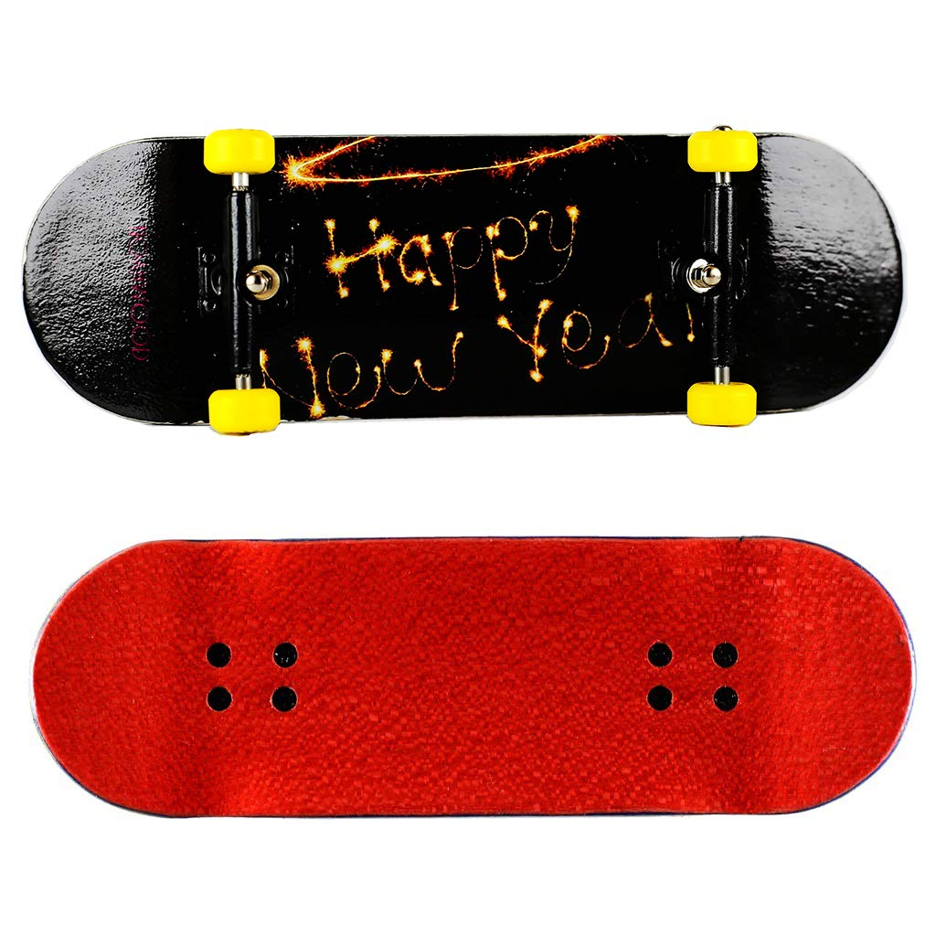 NOAHWOOD Wooden PRO Fingerboards (Deck,Truck,Wheel / a Set) (Happy New Year I)