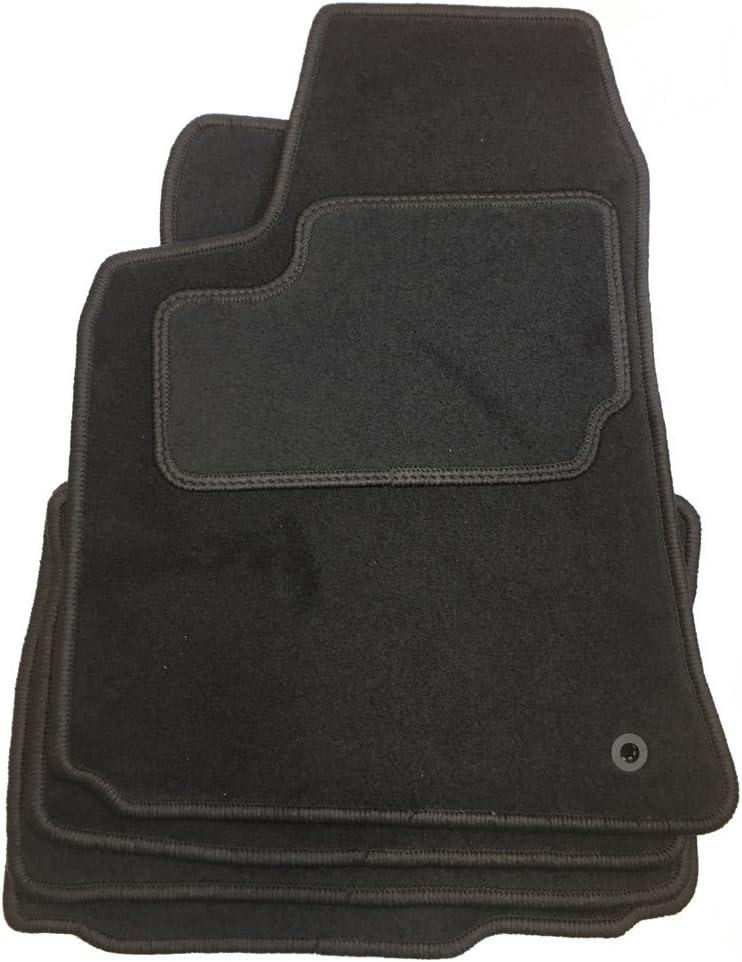 Chrysler Velours Fu/ßmatten bestehend aus Vier Teilen in schwarz O