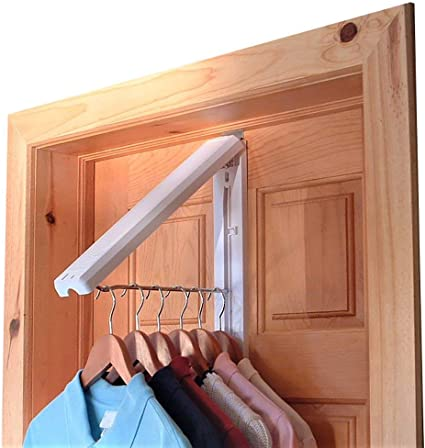 Folding Drying Rack, Wall Mount, Includes Over-Door-Bracket For 1 3/8-Inch Thick Doors Only