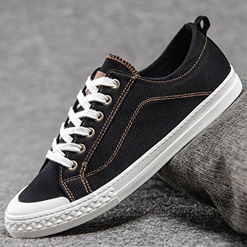 selvaggia scarpe da per tela XFF Nero Scarpe le traspiranti uomo scarpe tendenza casual di da scarpe scarpe uomo aiutare basse estiva wHHq8aIEx