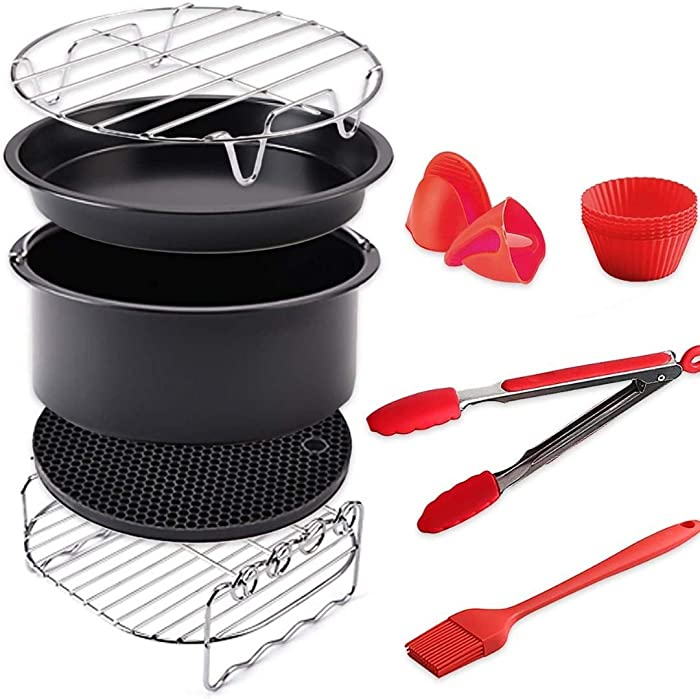 B.WEISS Air Fryer Accessories Set 9 pcs Compatible for B. WEISS Philips COSORI Gowise USA Cozyna Airfryer 3.2QT - 3.5QT - 3.7QT-5.5QT… (9)