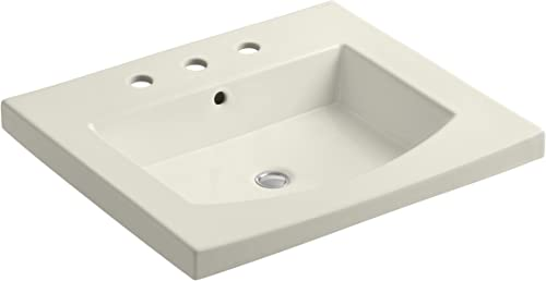KOHLER K-2956-8-96 Persuade Curve Top and Basin Bathroom Sink with 8-Inch Centers, Biscuit