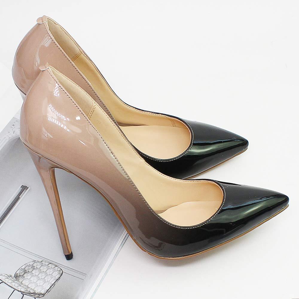 Frauen Sexy High Heel Schuhe Spitz Spitz Spitz Stilett Nahe Zehe Party Gericht Schuhe Casual Lackleder Ferien Prom Nachtclub Hochzeit Schuhe 10 cm 412cc7