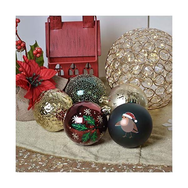 Valery Madelyn Palle di Natale 16 Pezzi 8 cm Palline di Natale, Strada di Campagna Rosso Verde e Oro Infrangibile Ornamenti Palla di Natale Decorazione per Albero di Natale Decor 7 spesavip
