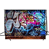 KOLCY Photography Backdrop Studio Hip Hop Graffiti Style Wall Decor Props Photography Studio Television Photo Background