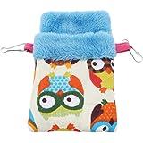 Eleusine Hamster Hammock Bed Soft Warm Velvet Pet Bird Rat Hanging Bed Basket House Nest Toy Bedding for Small Animals (Style 1)
