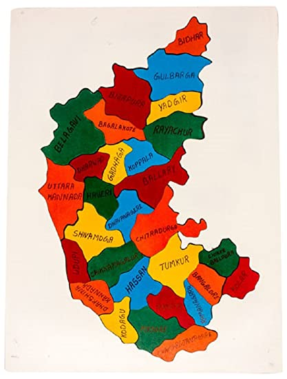 Buy Channa Toys Karnataka Map Jigsaw Puzzle (Multicolor) Online at on andhra pradesh map, sri lanka map, m.p. map, gujarat map, union territory map, maharashtra map, bangalore map, haryana map, telangana map, uttar pradesh map, west bengal map, tamilnadu map, uttarakhand map, kashmir map, kerala map, goa map, india map, delhi map, pondicherry map, rajasthan map,