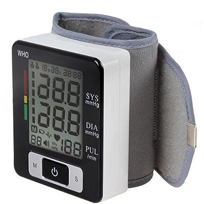 AIMS@ Moniteur de pression artérielle automatique au poignet LCD Moniteur de poignet réglable intelligente numérique Moniteur de santé Moniteur de dépression à haute précision
