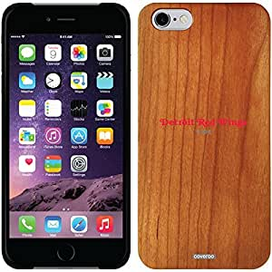 fashion case iphone 5s Madera Wood Thinshield Case with Detroit Red Wings Word Logo Design