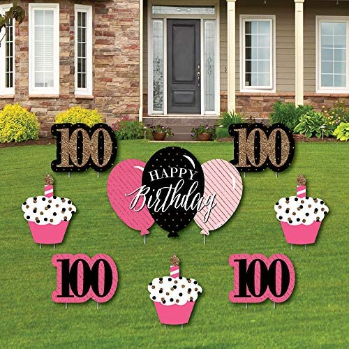 Chic 100th Birthday Outdoor Decorations