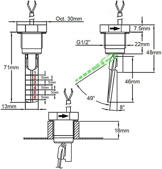 """G1//2/"""" Strömungsschalter Flow-Switch Paddelschalter Durchfluss-Schalter"""