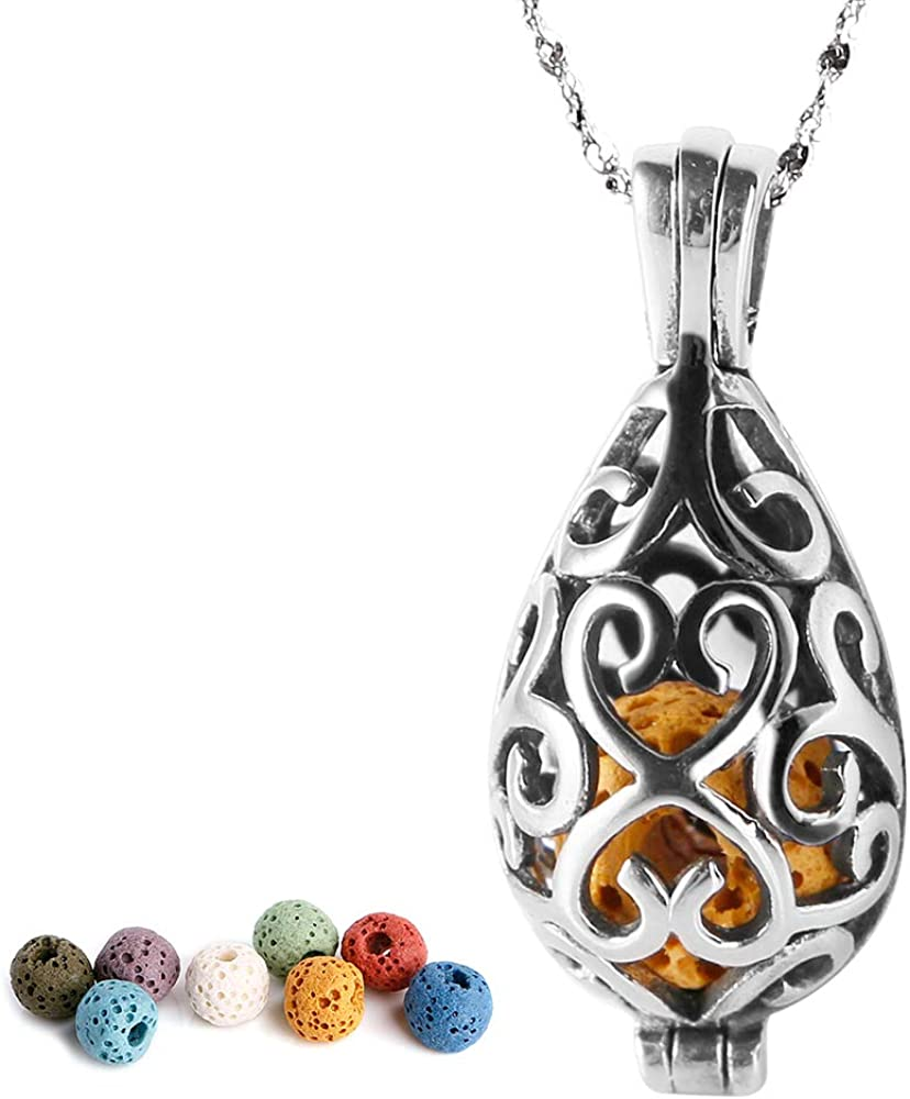 Lava LocketCaged Stone Necklace