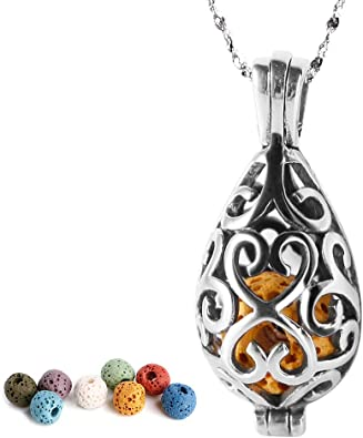 Essential Oil Necklace Aromatherapy Necklace Diffuser Necklace Purple Cage