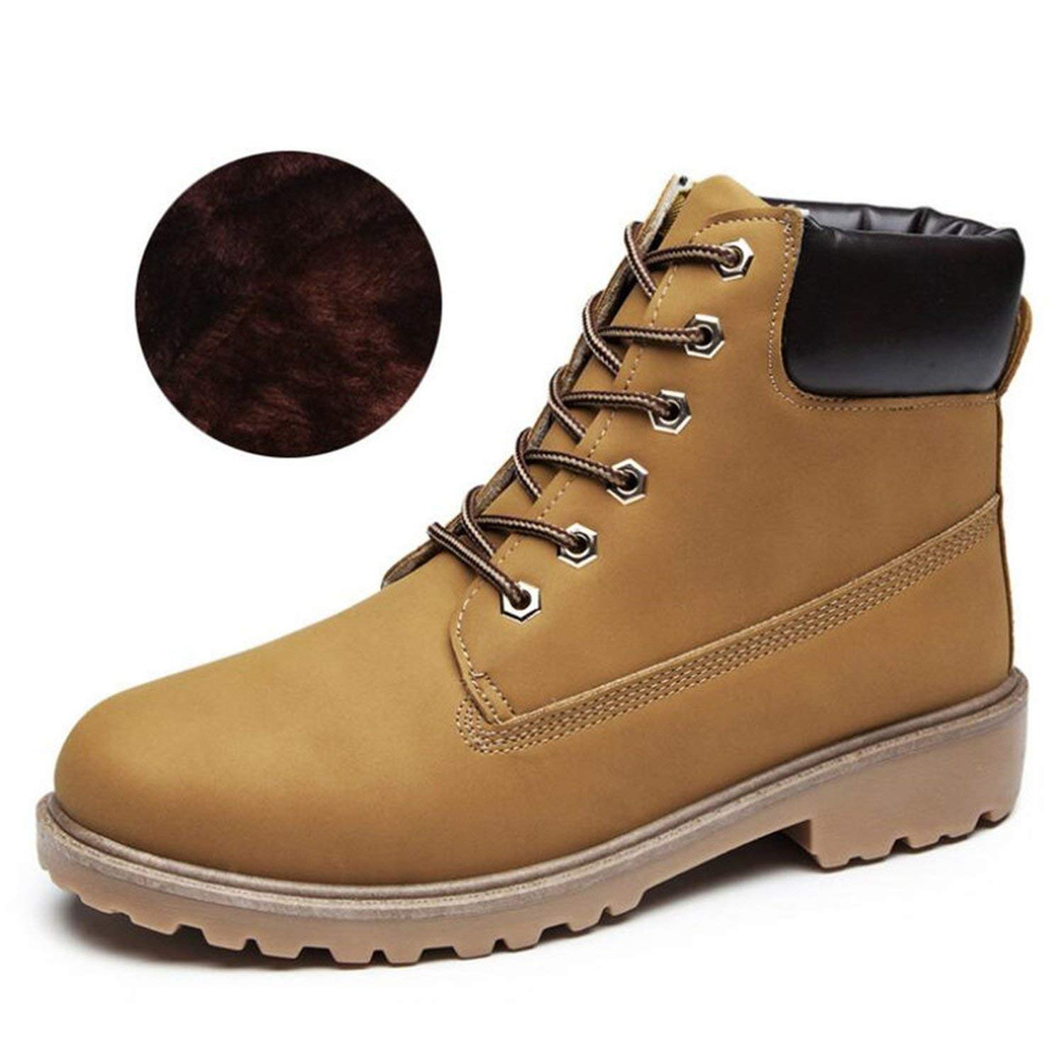 Fashion Booties Women Boots Female Snow Boots Womens Ankle Boots Square Heel Martin Boots Autumn Winter Shoes Q383,A7,5.5