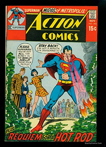 Action Comics #394 VF 8.0 Tongie Farm Collection Pedigree