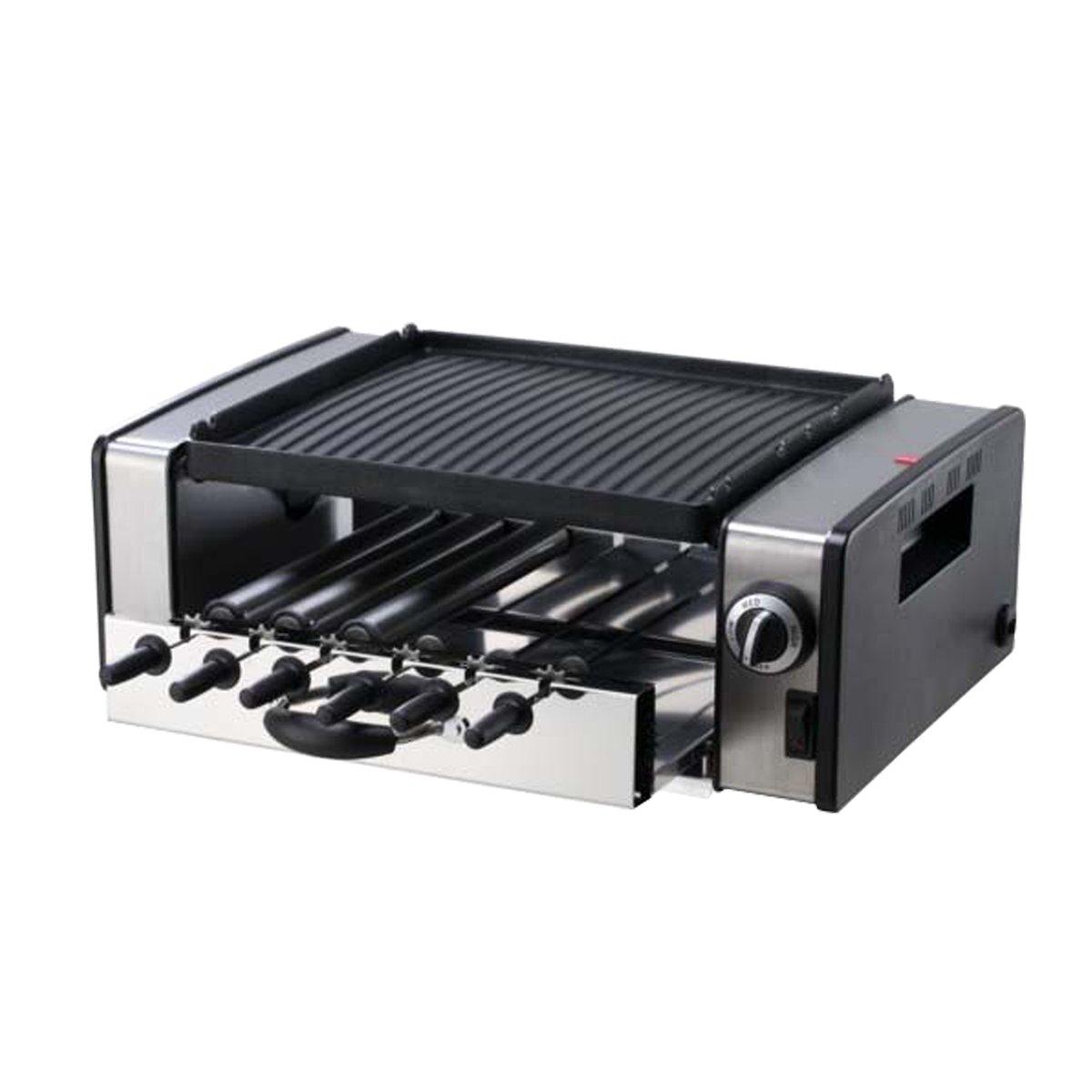 H.Koenig GB316 Griglia 3 in 1, Spiedini/Hot Dog/Barbecue 80155
