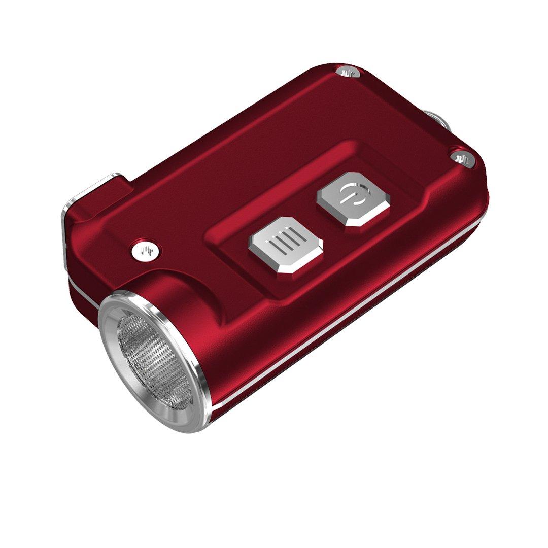 Linternas : NITECORE TINI 380 Lm Super Small USB Rojo