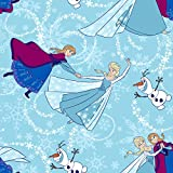 Frozen-Sisters Skate Toss With Glitter 44 100% Cotton D/R-Sisters Ice Skating Toss