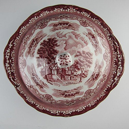 Grindley China ENGLISH COUNTRY INN-PINK Round Covered Vegetable bowl EXCELLENT