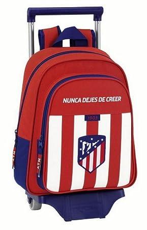 Safta Mochila Infantil Atlético De Madrid Oficial Con Carro Safta 125x95mm: Amazon.es: Equipaje