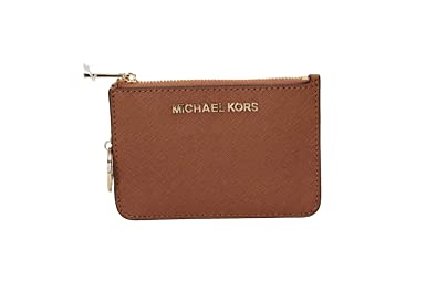 fc302997516e Amazon.com: Michael Kors Saffiano Leather Jet Set Small TZ Coin ...