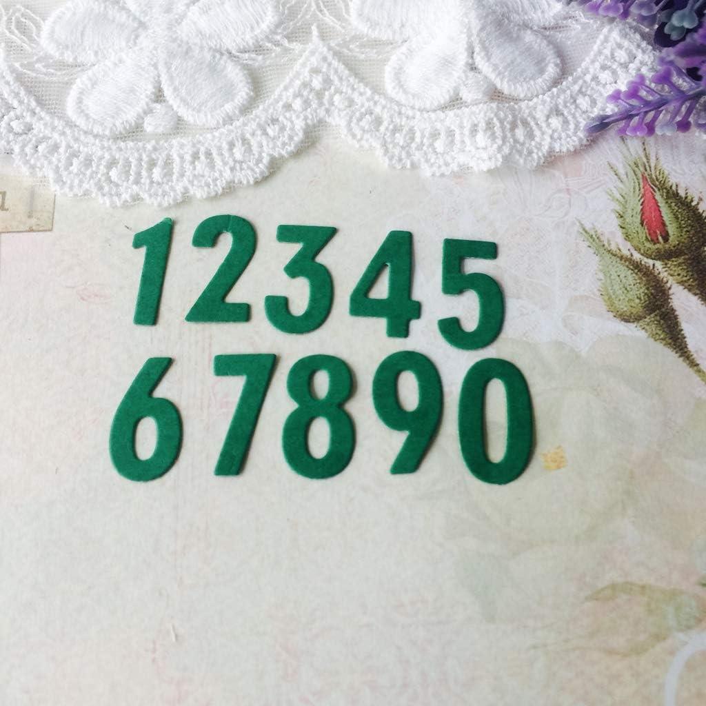 Guoqiao Matrice de d/écoupe en m/étal en forme de chiffre pour bricolage gaufrage d/écoration de cartes scrapbooking